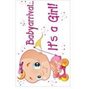 Raamsticker Adhesive Baby arrival a Girl 35x55