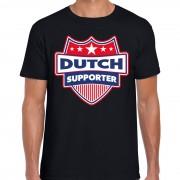 Bellatio Decorations Nederland / Dutch supporter t-shirt zwart voor heren