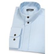 Pánská košile se stojáčkem na 2 knoflíky světlemodrá Avantgard 452-15-43/182