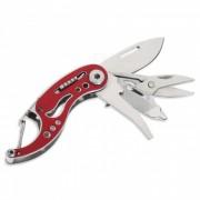 Al aire libre multifuncion mini acero plegable cuchillo w / keychain - rojo