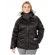 Columbia Plus Size Lay D Downtrade II Jacket Black Satin 2