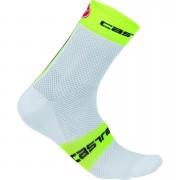 Castelli Free 9 Socks - XXL - White/Yellow Fluo