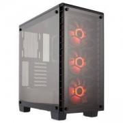 Компютърна кутия Corsair Crystal Series 460X RGB Compact (Mid-Tower), Tempered Glass, черен, CC-9011101-WW