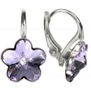 Troli Dívčí stříbrné náušnice Flower Violet
