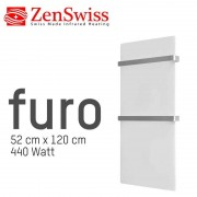 ZenSwiss furo (Farbe: Matt Weiss, Format: 52 x 120 cm)