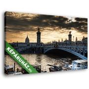 Párizs legszebb hídja: Pont Alexander III. (40x25 cm, Vászonkép )