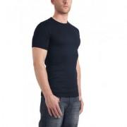 Garage Basic T-Shirt Round Neck Blue Semi Bodyfit ( art 0301) - Blauw - Size: Large