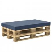 Възглавница за мебели от палети за интериор и екстериор [neu.haus]® 120 x 80 x 10 cm, Тъмносин калъф
