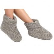 Woolwarmers Grijze wollen sloffen/pantoffels voor dames/heren 36 - Pantoffels