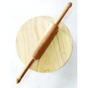 Royals Wooden Sheesham wood chakla belan Brown Wood Handicrafts