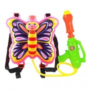 FFtoy Water Gun Backpack butterfly pink fairy nymph Super Soaker For Kids Toys - Summer Fun Outdoor Water Toy For Children Beach Pool Backyard Water Blaster Cartoon animal