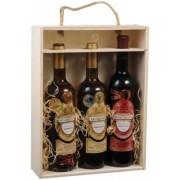 Kazeta na 3 vína prosklená