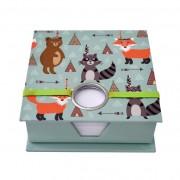 Zwierzęta - karteczki w pojemniku
