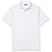 PGA TOUR Polo de Manga Corta para Hombre, Blanco Brillante Ditsy Golf, 3X-Large