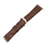FIXED Berkeley - Apple Watch készülékhez, 42 és 44 mm, ezüst és barna színű csattal