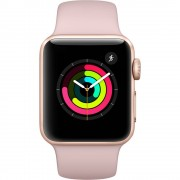 Apple Watch Series 3 (38mm) Aluminio en Oro y Correa Deportiva Rosa Arena -...