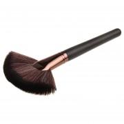 Mango De Madera Powder Foundation Maquillaje Cosmetico En Forma De Abanico Herramienta Pincel