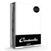 Cinderella Topper Hoeslaken Basic Percaline White-160 x 200 cm