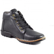 AFK Men's Black Synthetic Leather Casual Boots