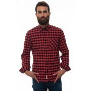 Woolrich Camicia manica lunga traditional check Nero/rosso Cotone Uomo