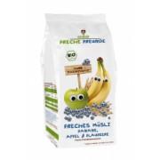 Musli cu banane, mere si afine Bio 200gr