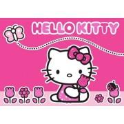 Associated Weavers 618279 Moderne Tapis Hello Kitty Papillon Et Fleurs Polyamide Rose 133 X 97 X 1 Cm
