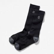 Timberland Lot De Deux Paires De Chaussettes Côtelées Pour Homme En Noir Noir, Taille L