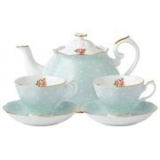 Royal Albert Polka Rose Tea for Two Boxed Set