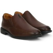 Clarks Unbizley Lane Dark Brown Lea Slip on For Men(Brown)