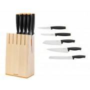 Fiskars Zestaw 5 noży w bloku (1014211)