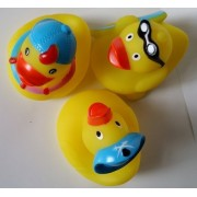 Easyinsmile Rubber Duck Baby Bath Toy for Kids Mini Rubber Bath Ducks- Baby Bath Toy 3 Pieces per Pack by Easyinsmilee