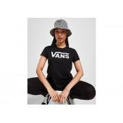 Vans Flying V Logo T-Shirt Dames - Black/White - Dames