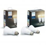 Philips Pack 3 Lâmpadas Inteligentes LED Hue White Ambiance E27