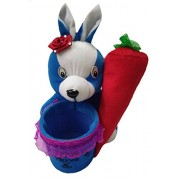 Aparshi Cute Rabbit with Carrot Pen Stand stuffed soft toy