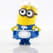 Microware Cartoon Maid Shape (Blue & Yellow) 16 GB Pen Drive(Blue, Yellow)
