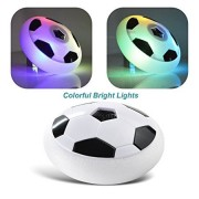 Siddhi Vinayak™Indoor Outdoor Air Power Soccer Football Hover Disk Ultraglow with Foam Bumpers and Light up LED Lights with Music -Best Birthday Gift