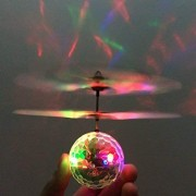 Oongly Flying Ball with Motion Sensors and 3D Lights | Flying Sensor Ball | Flashing Light Ball Aircraft | Flying Motion Sensors Ball with 3D Lights and Music (Multicolour)