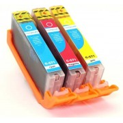 Compedo Printer cartridge Canon CLI-571, multipack, 3 stuks