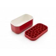 Lékué® Ice box jégkocka készítő és tároló, piros