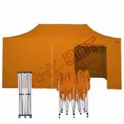 ray bot Gazebo pieghevole 3x6 arancione professionale con laterali PVC 350g