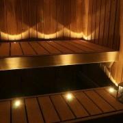 PAKETERBJUDANDE! 12 delad LED bastubelysningsserie + 1 BASTUAGGREGAT LED, med stålram
