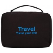 JustChhapo Casual Hanging Travel Cosmetic Bags Toiletry Wash Makeup Storage Cosmetic Organizer Waterproof Portable Toiletry Bag Travel Toiletry Kit(Black)