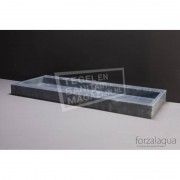 Forzalaqua Palermo Wastafel 100 cm Cloudy Marmer Gezoet 100,5x51,5x9 cm 1 wasbak zonder kraangaten