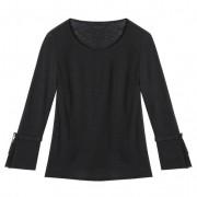 Linnen jersey shirt, zwart 52/54