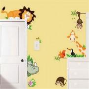 Leon elefante mono jirafa pegatinas de calcomanias de pared de DIY - Multicolor
