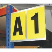 Alu-Leittafel doppelt, für 2 Schriftzeichen Höhe x Breite 260 x 310 mm