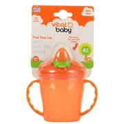 Vital Baby Mugg 4 månader + - Free Flow - Orange