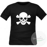 SiMEDIO T-shirt enfant original imprimé : CRANE QUI RIT - Violet 4 ans Courtes