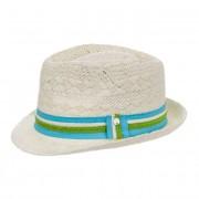 FASHIONDESIGN cappello trilby estivo bianco