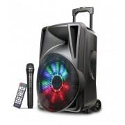 """Astrum TM120 """"Trolley"""" hordozható bluetooth hangszóró 12.0"""", 30W, FM, USB, MicroSD, színes LED világítás, mikrofon"""